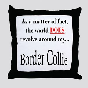 Border Collie World Throw Pillow